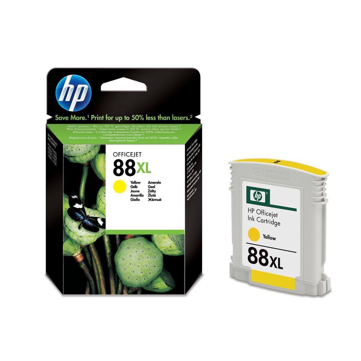 Hewlett Packard [HP] No.88XL Inkjet Cartridge Page Life 1540pp 17.1ml Yellow Ref C9393AE
