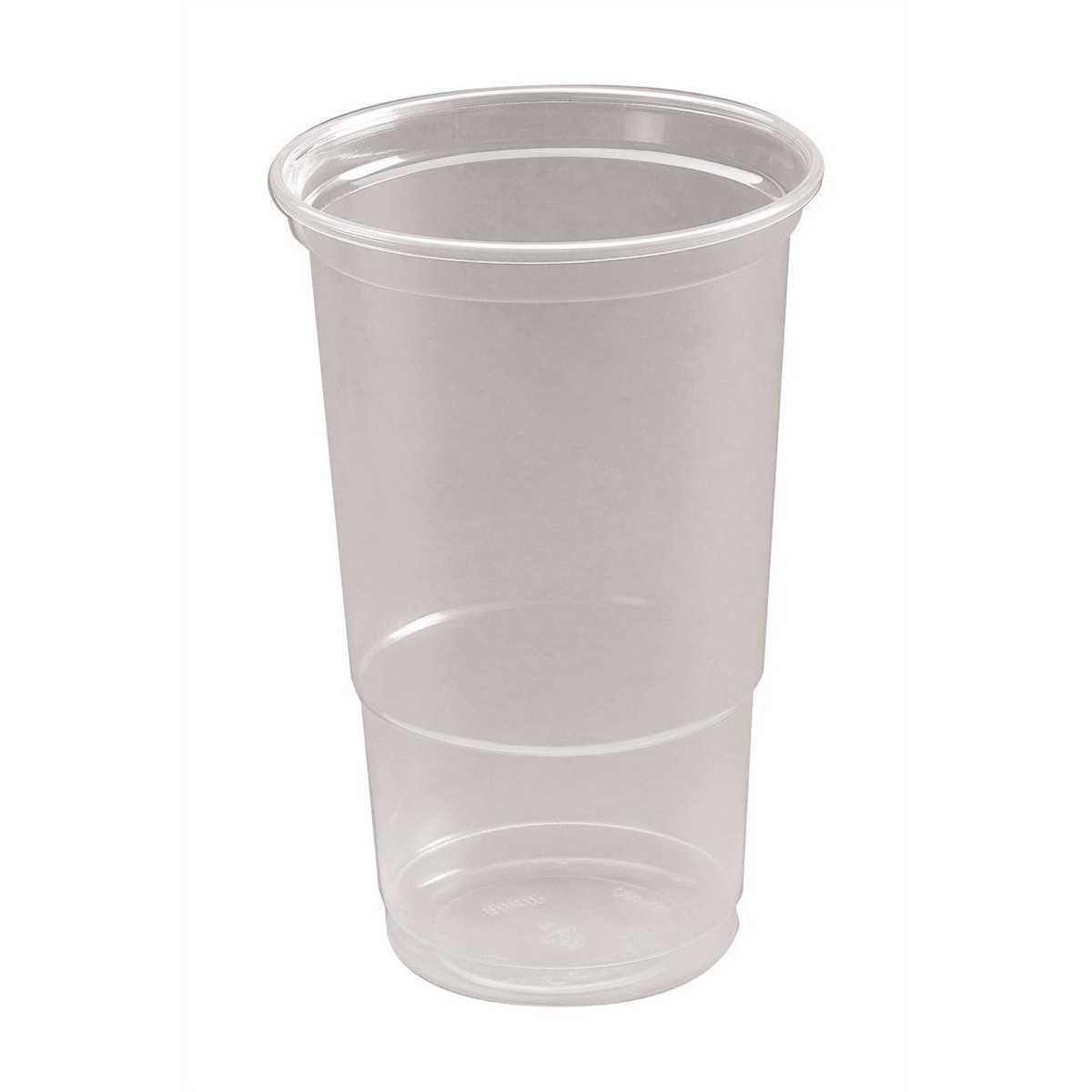 Disposable Cups & Accessories Pint Tumbler CE Marked Polypropylene 19.2oz 568ml Clear Ref 30011 Pack 50