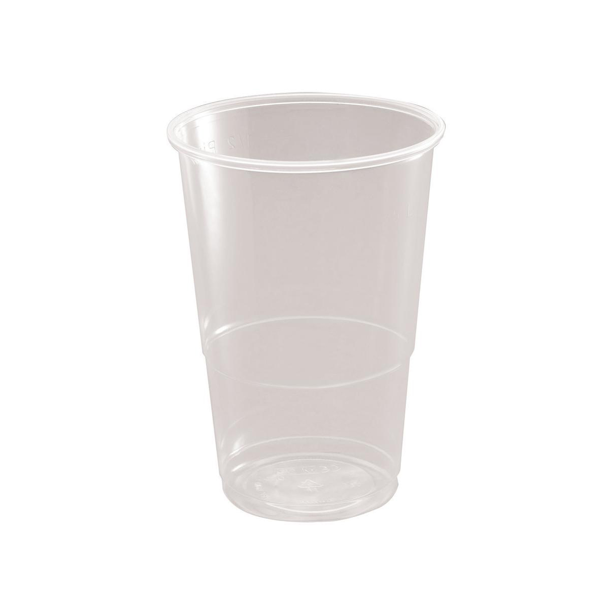 Disposable Cups & Accessories Half Pint Tumbler CE Marked Polypropylene 9.6oz 284ml Clear Ref 30010 Pack 50