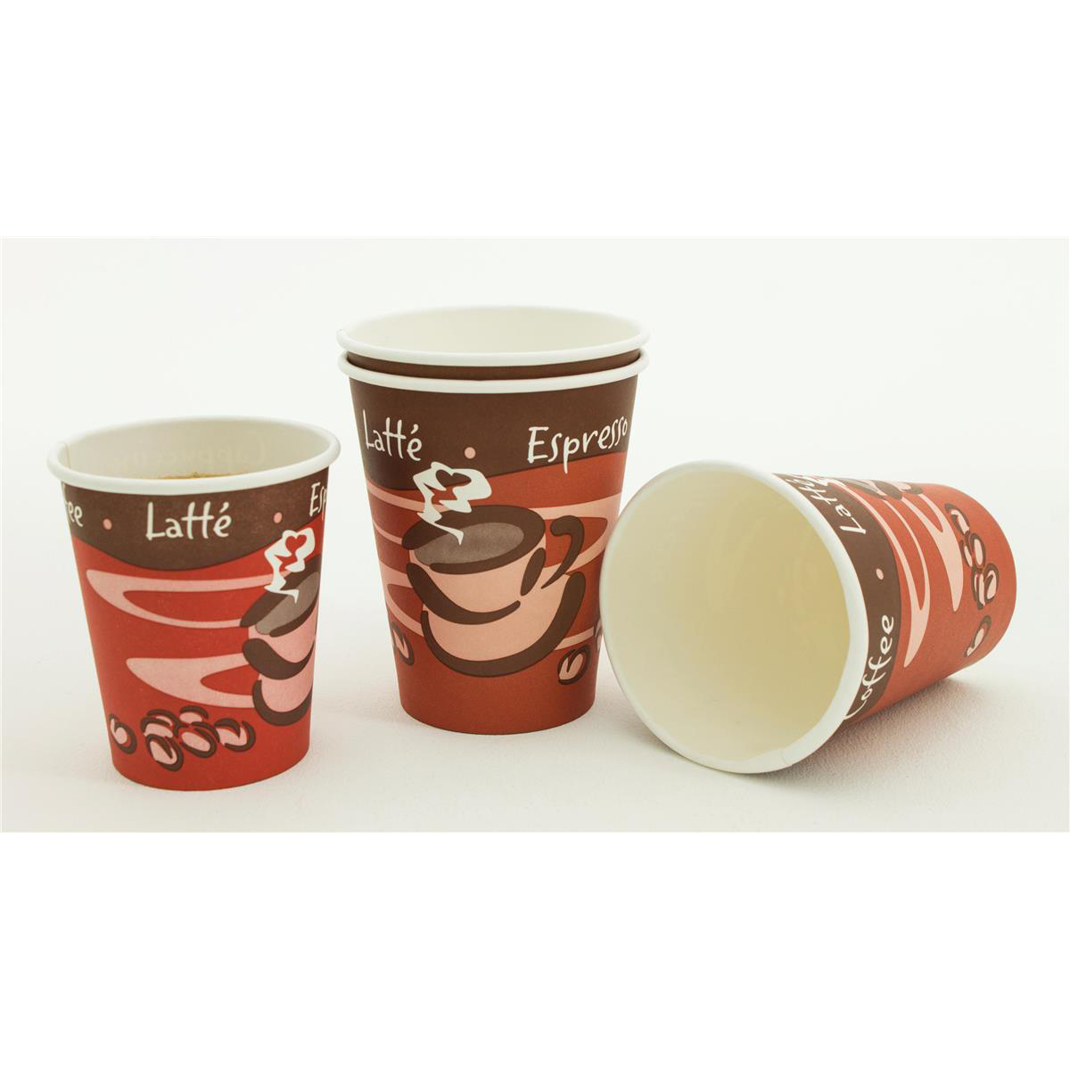 Paper Cup for Hot Drinks 8oz 236ml Varied Design Ref 01156 Pack 50
