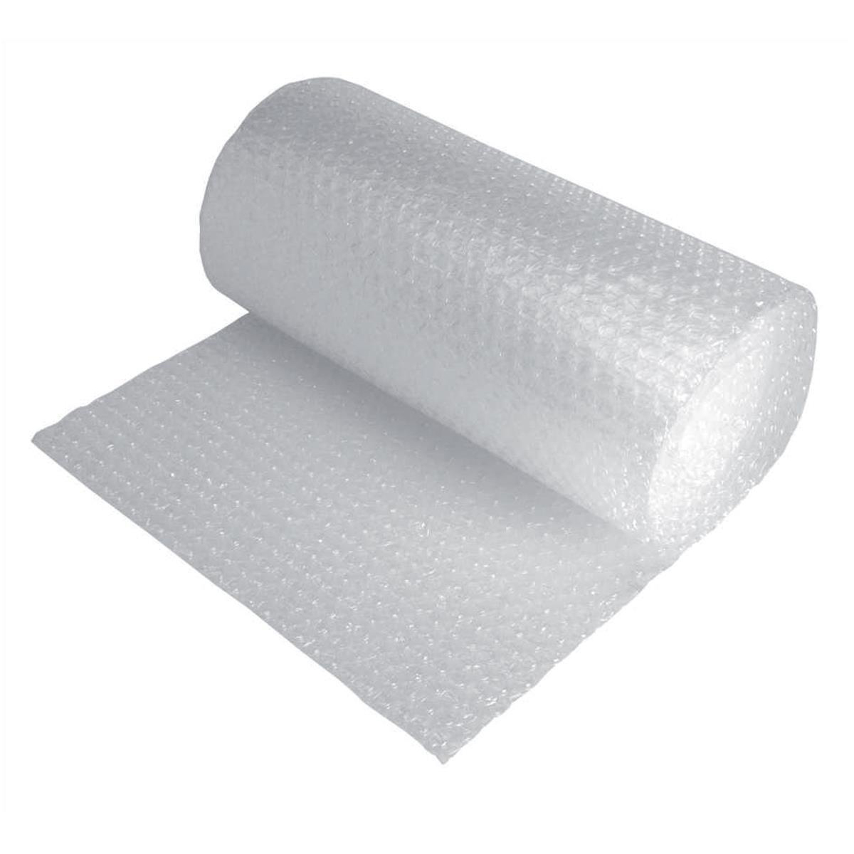 Bubble Wrap Jiffy Bubble Film Roll No Core Bubbles of Diam. 10mmxH5mm 500mmx10m Clear Ref BROC37962