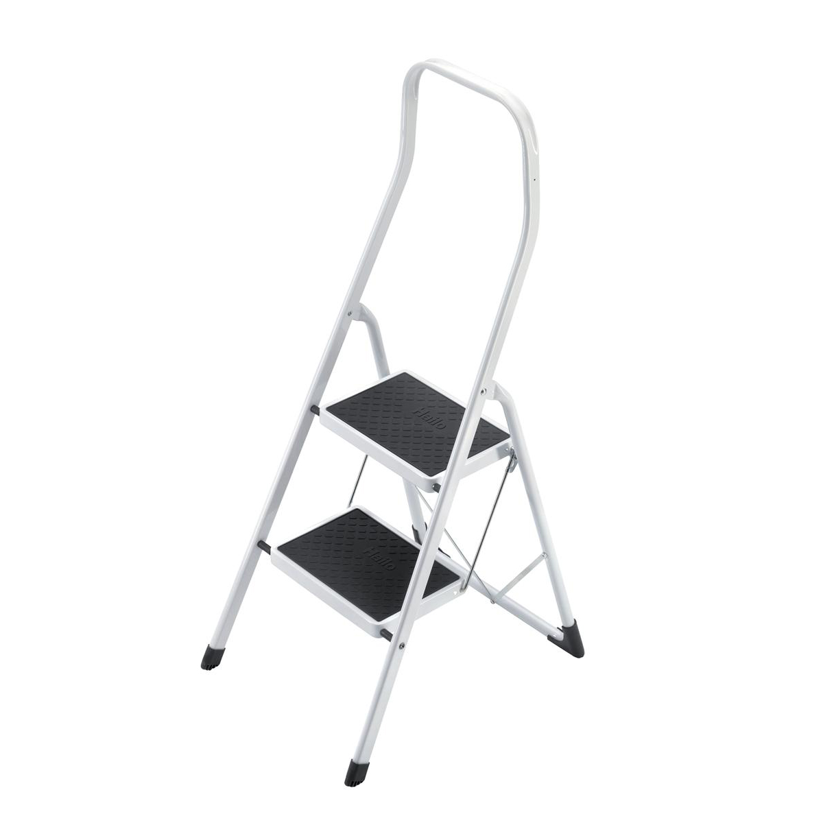 Step stool 5 Star Facilities Safety Steps Folding Safety Rail H0.5m 2 Treads Capacity 150kg H2.26m 4.9kg
