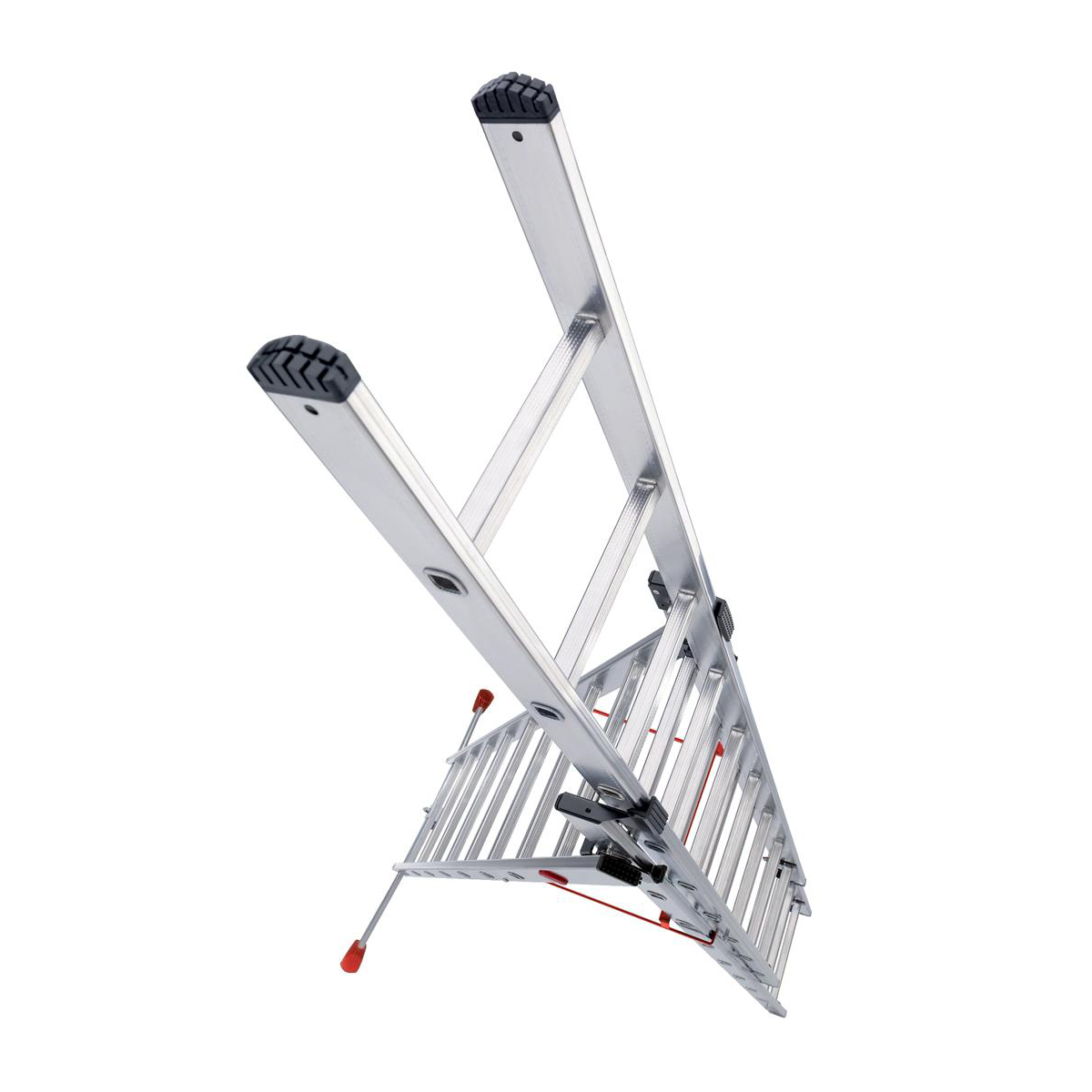 Combi Ladder 3 Section Capacity 150kg Rungs 2x9 and 1x8 for H6.7m 21.7kg Aluminium