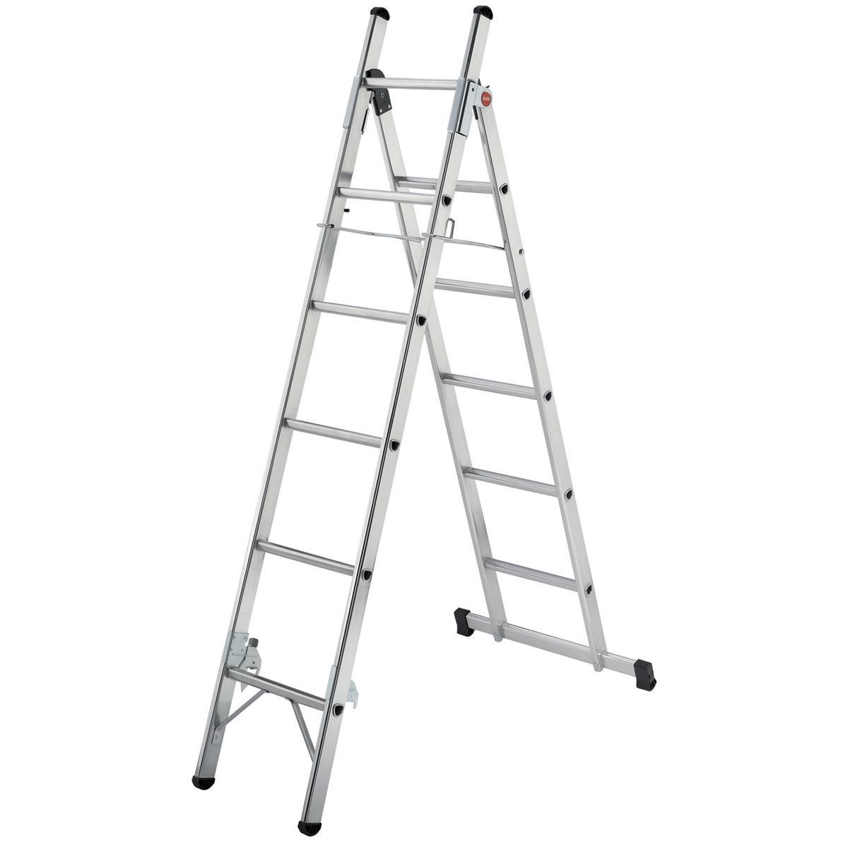 Convertible Household Ladder 3 Way 5 Tread Capacity 150kg 5.6kg Aluminium