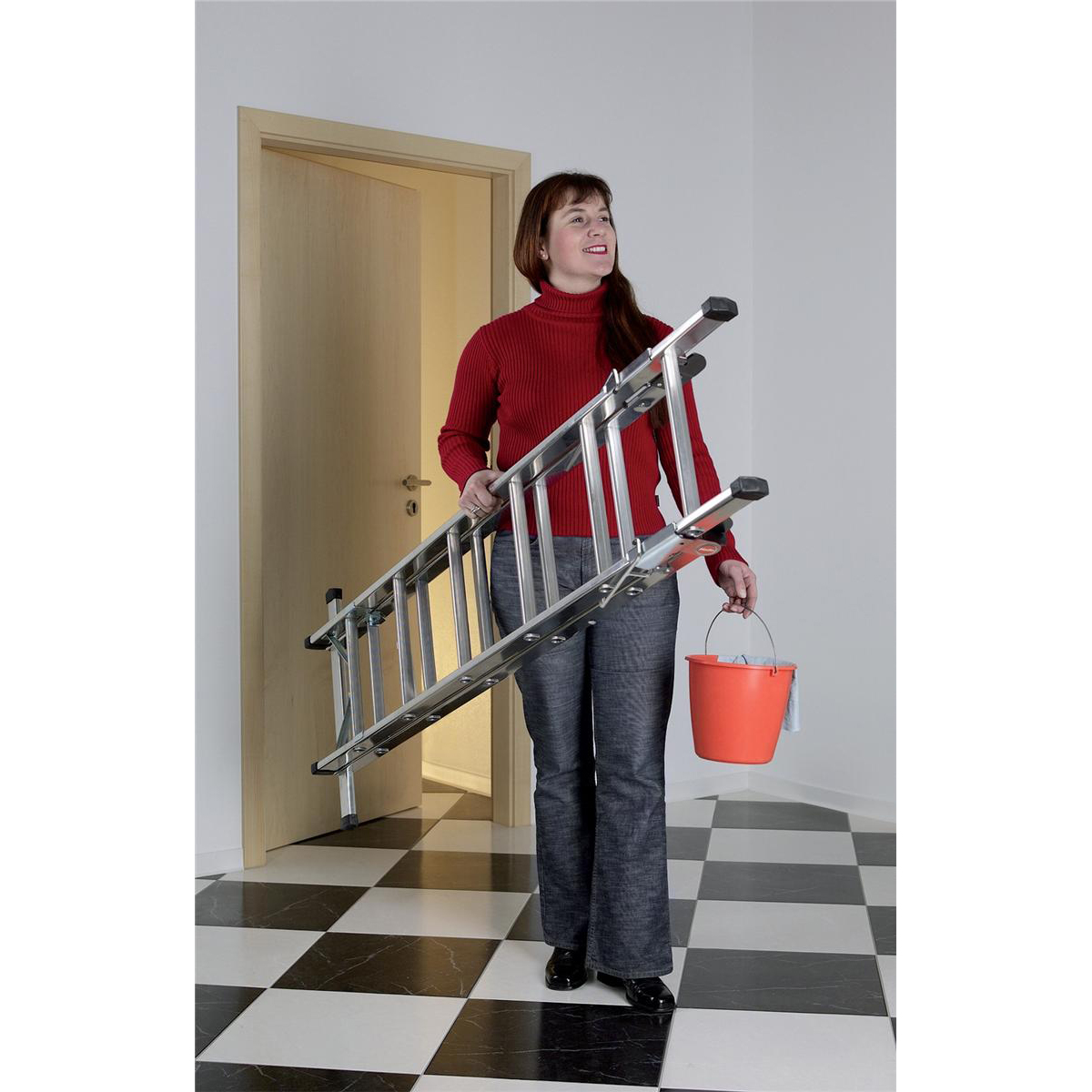 Convertible Household Ladder 3 Way 5 Tread Capacity 150kg 5.6kg Aluminium