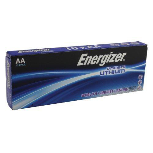 AA Energizer Ultimate Battery Lithium LR91 1.5V AA Ref 639753 Pack 10