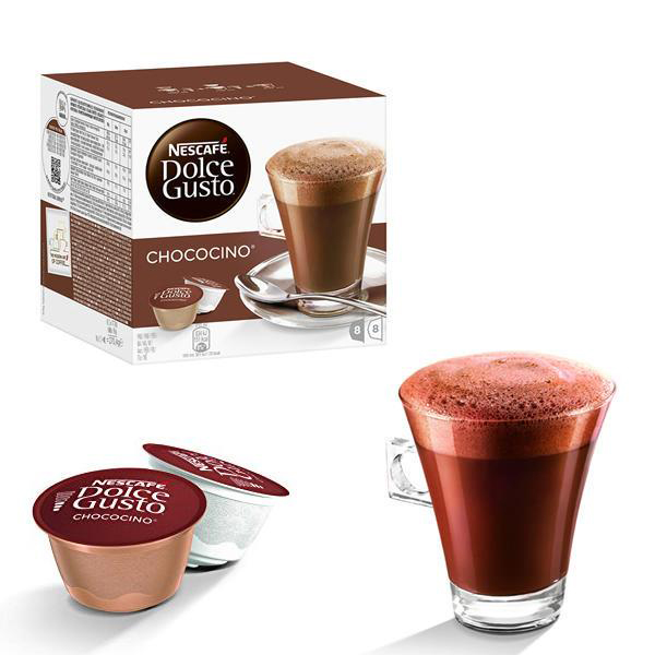 Hot Chocolate Nescafe Chococino Capsules for Dolce Gusto Machine Ref 12352725 Packed 48 (3x16 Capsules=24 Drinks)