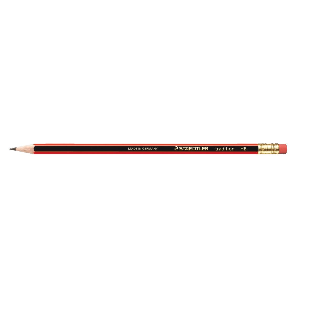 Staedtler 110 Tradition Pencil with Eraser PEFC HB Ref 112HBRT [Pack 12]