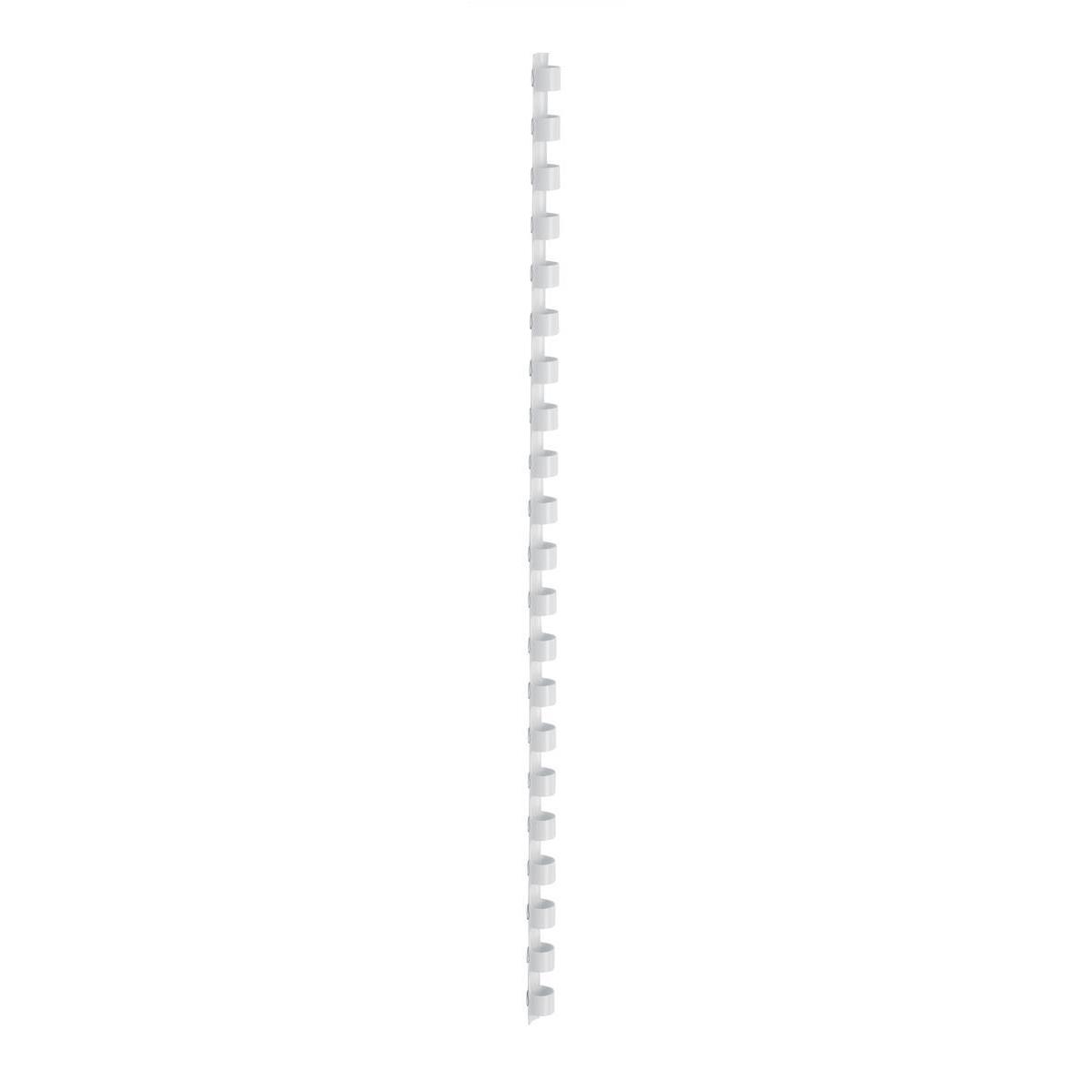 5 Star Office Binding Combs Plastic 21 Ring 45 Sheets A4 8mm White Pack 100