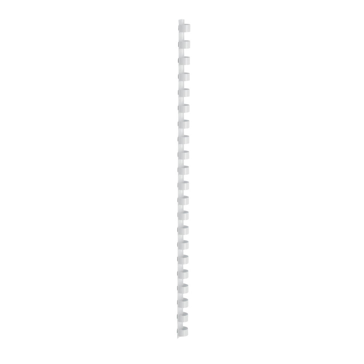 5 Star Office Binding Combs Plastic 21 Ring 65 Sheets A4 10mm White Pack 100