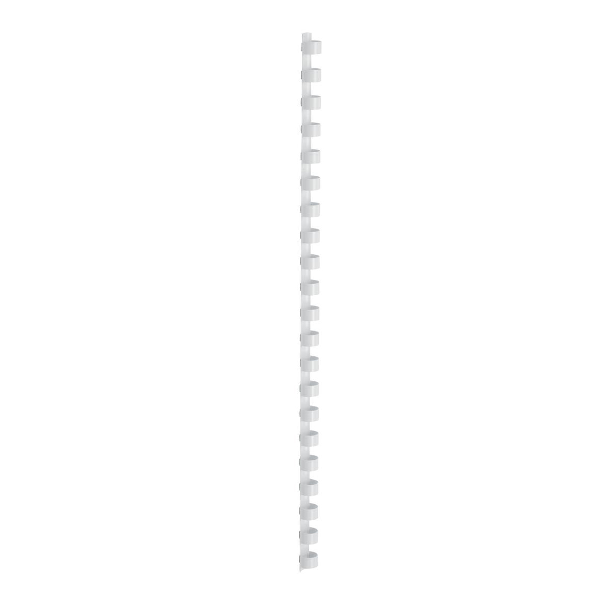 5 Star Office Binding Combs Plastic 21 Ring 95 Sheets A4 12mm White Pack 100
