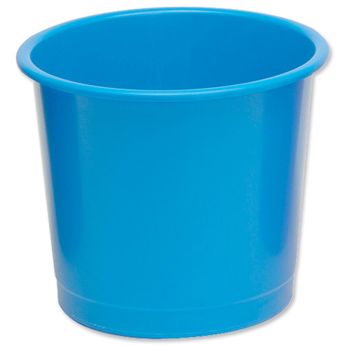 Rubbish Bins 5 Star Office Waste Bin Polypropylene 14 Litre Capacity 304x254mm Blue