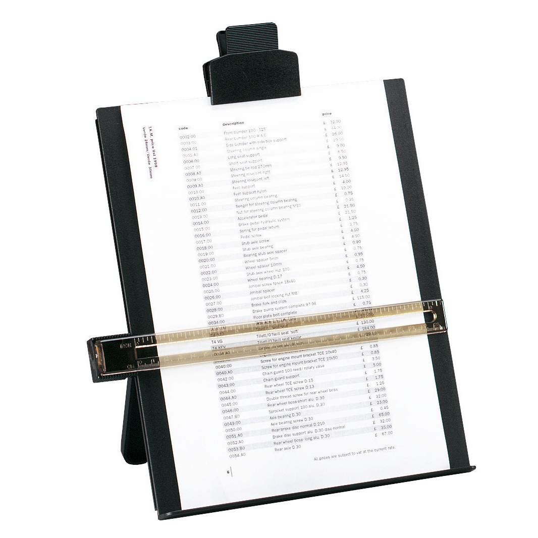 Copyholders 5 Star Office Desktop Copyholder with Line Guide Ruler A4 Black