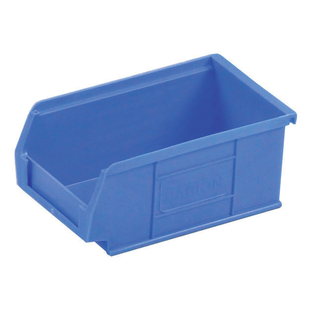Non metallic bins Container Bin Heavy Duty Polypropylene W165xD100xH75mm Blue [Pack 20]
