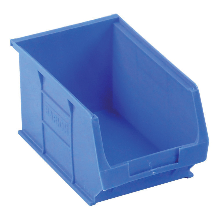 Containers Container Bin Heavy Duty Polypropylene W240xD150xH132mm Blue Pack 10