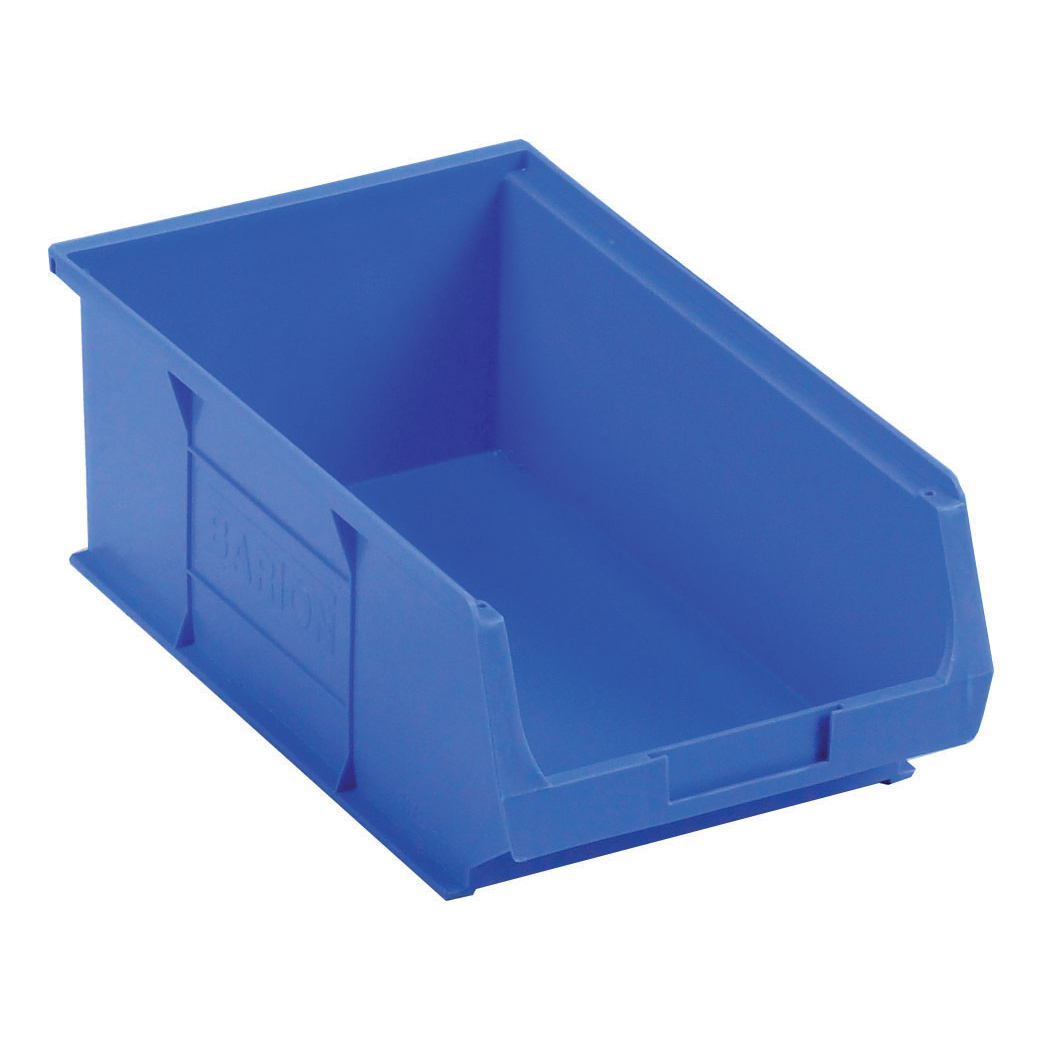 Container Bin Heavy Duty Polypropylene W350xD205xH132mm Blue Pack 10