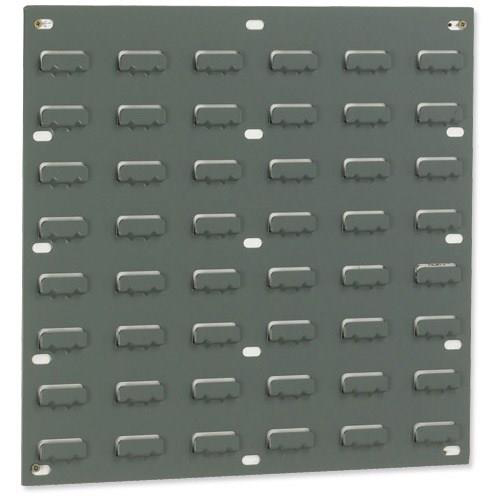 Louvred Panel Double Indented W457xH438mm Grey Ref 010101/2 Pack 2