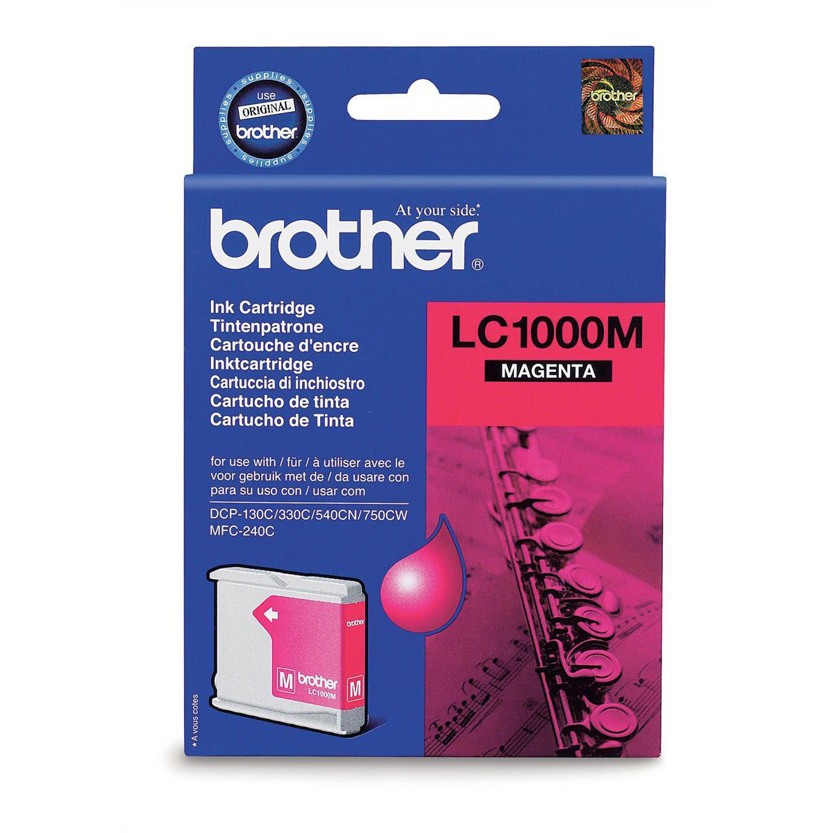 Brother Inkjet Cartridge Page Life 500pp Magenta Ref LC1000M