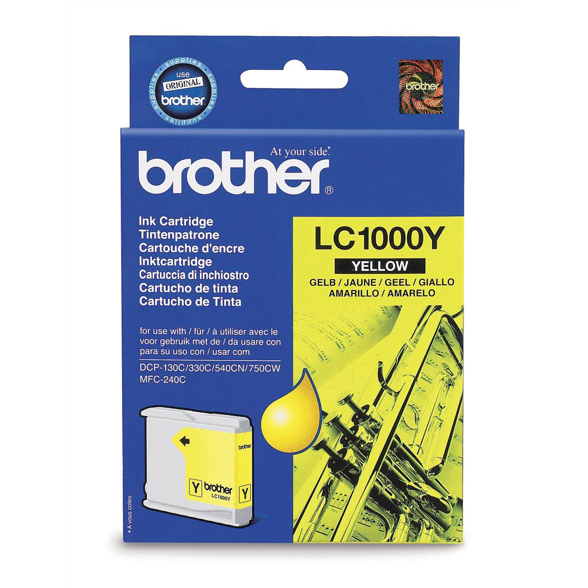 Brother Inkjet Cartridge Page Life 500pp Yellow Ref LC1000Y