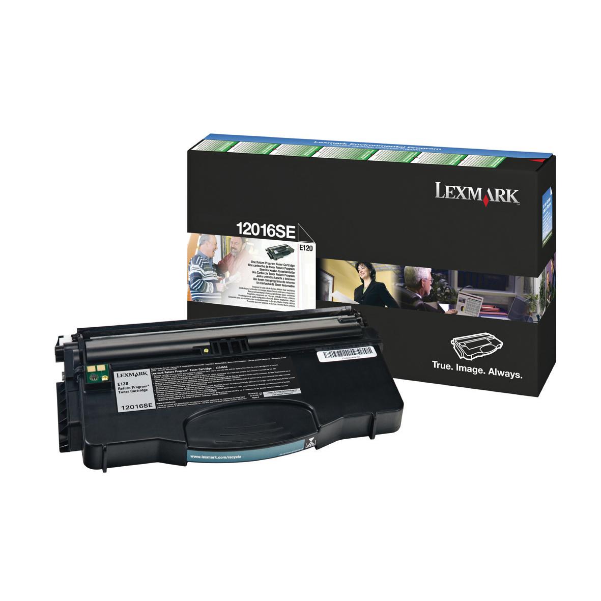 Lexmark E120 Laser Toner Cartridge Return Programme Page Life 2000pp Black Ref 12016SE
