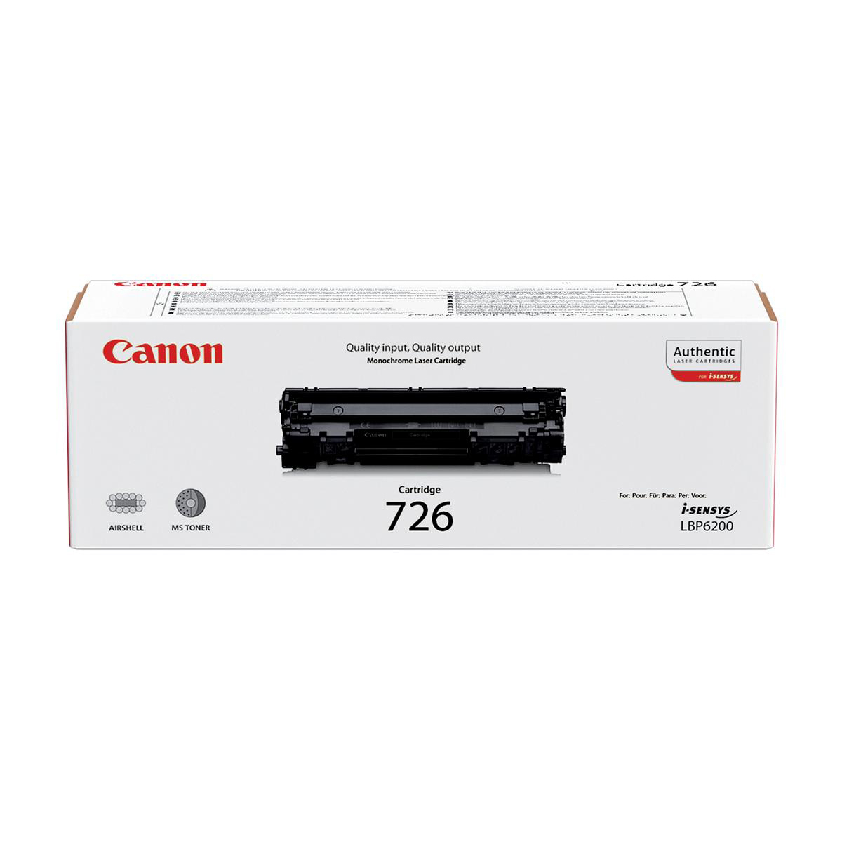 Canon 726 Laser Toner Cartridge Page Life 2100pp Black Ref 3483B002
