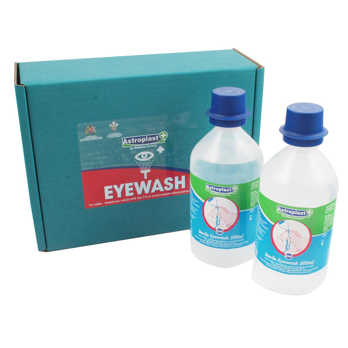 Wallace Cameron Astroplast Eyewash Sterile Water Bottles for Eye Care Disp 500ml Ref 2404039 [Pack 2]