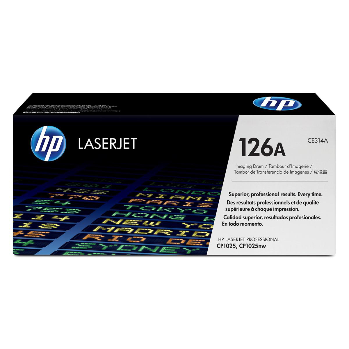 Hewlett Packard [HP] No. 126A Laser Drum Unit Page Life 14000pp Black/​7000pp Colour Ref CE314A