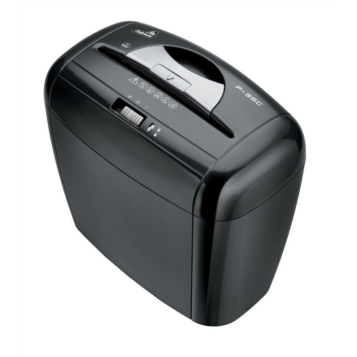 Fellowes Powershred P-35C Shredder Cross-cut DIN3 P-4 10 Litres Ref 3213701
