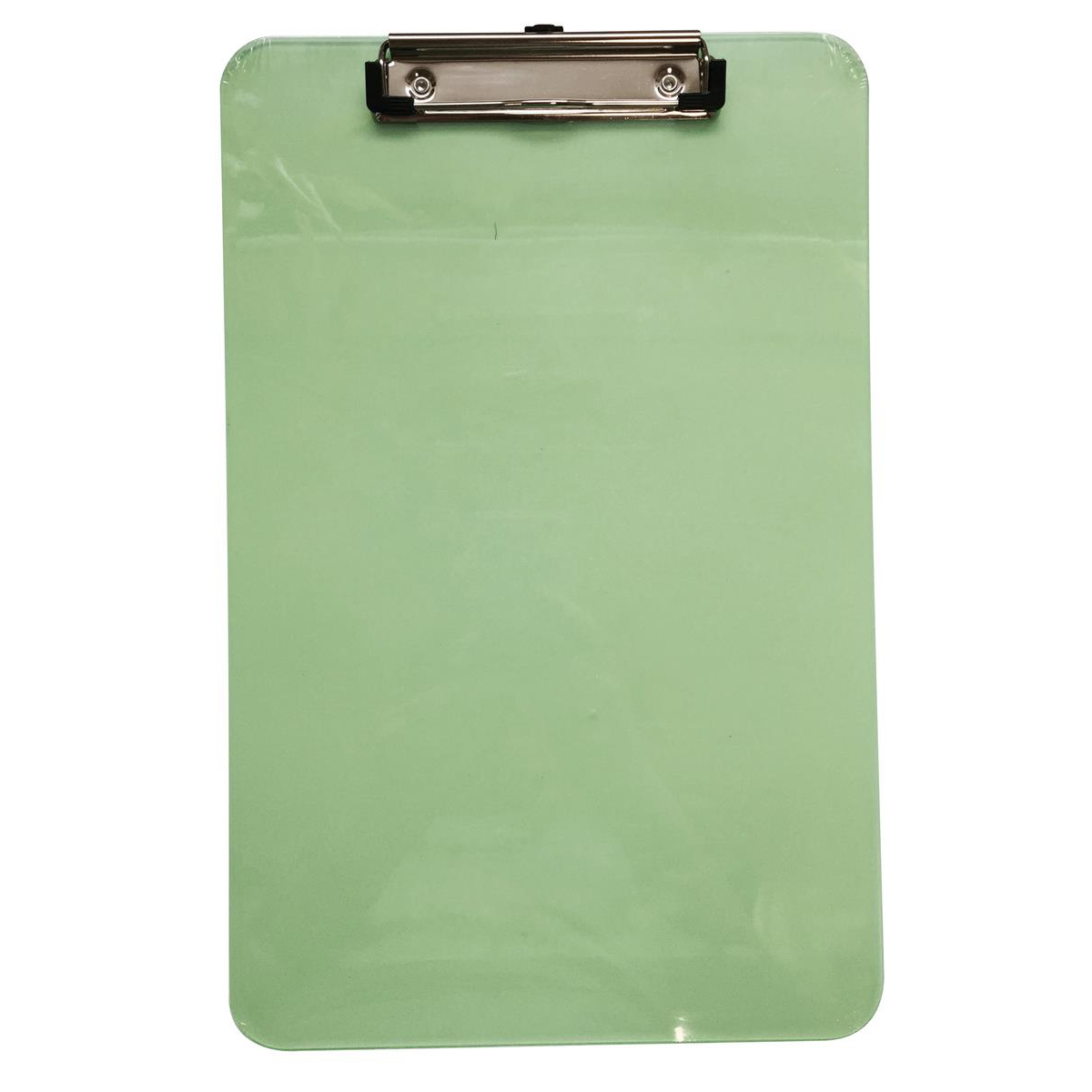 5 Star Office Clipboard Polypropylene Shatterproof Pink or Green or Turquoise