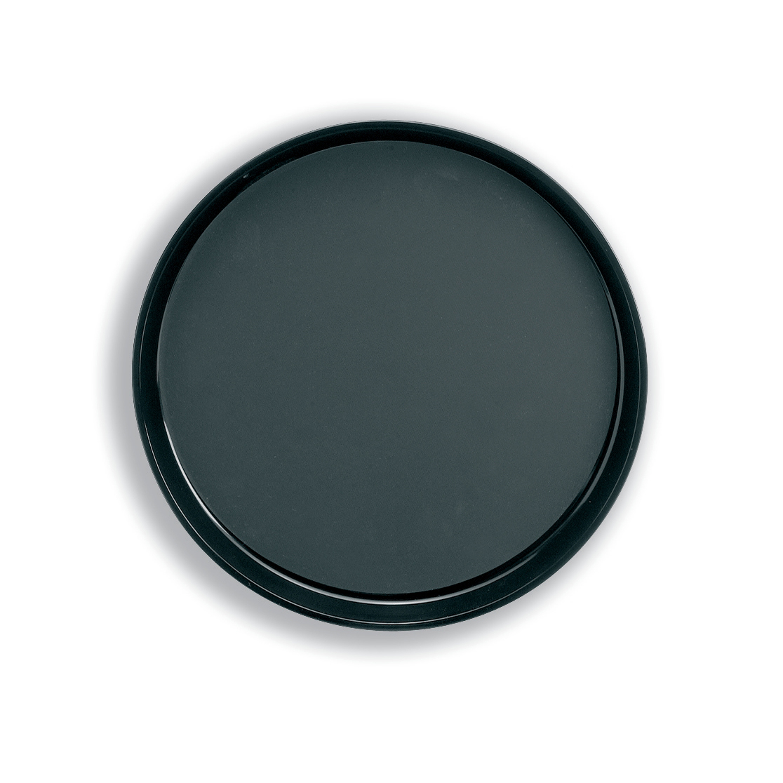 Tray Non Slip Polypropylene Dishwasher Safe Round Diameter 300mm Black