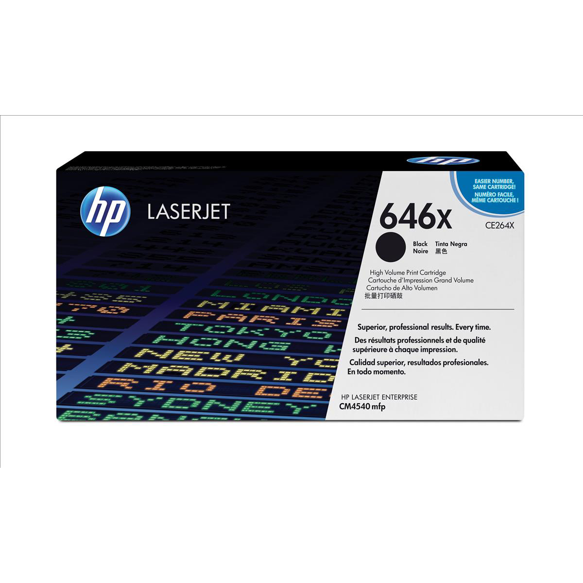 HP 646X Laser Toner Cartridge High Yield Page Life 17000pp Black Ref CE264X
