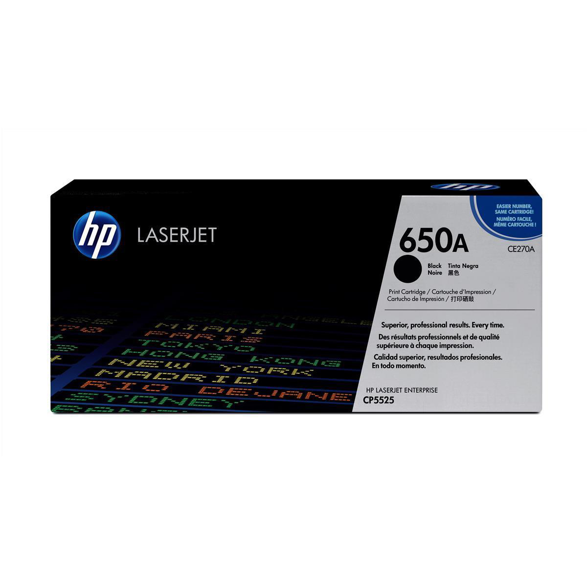 Hewlett Packard [HP] No. 650A Laser Toner Cartridge Page Life 13500pp Black Ref CE270A