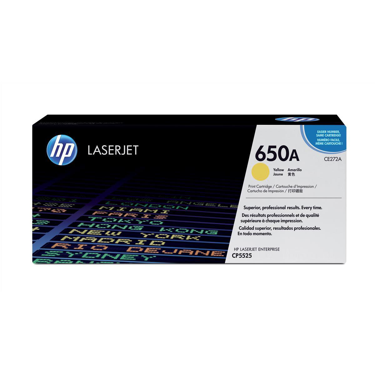 Hewlett Packard [HP] No. 650A Laser Toner Cartridge Page Life 15000pp Yellow Ref CE272A