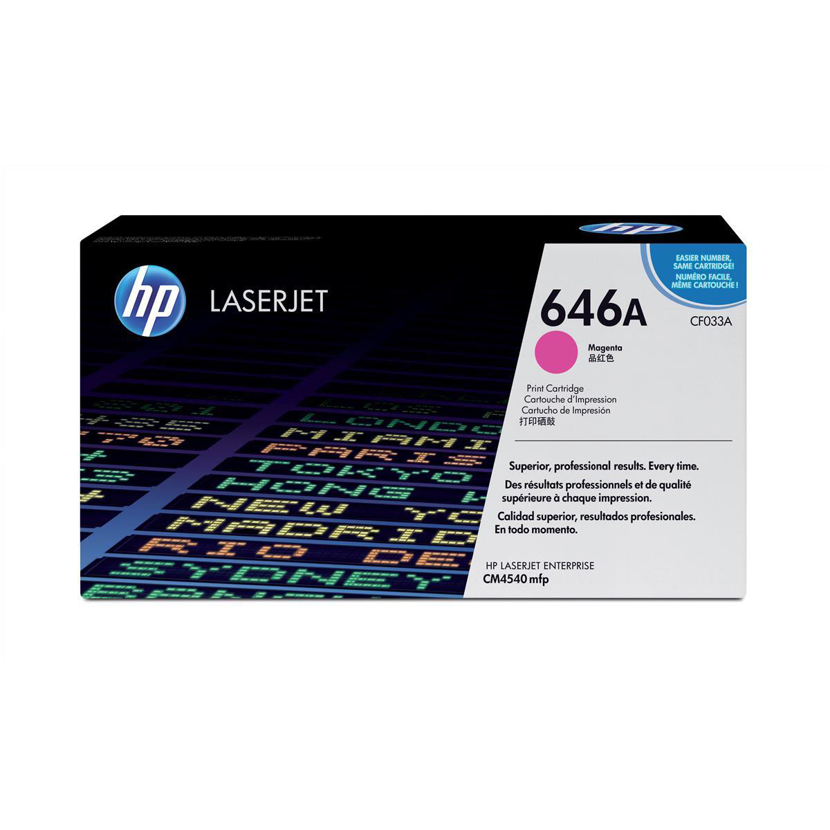 Hewlett Packard [HP] No. 646A Laser Toner Cartridge Page Life 12500pp Magenta Ref CF033A