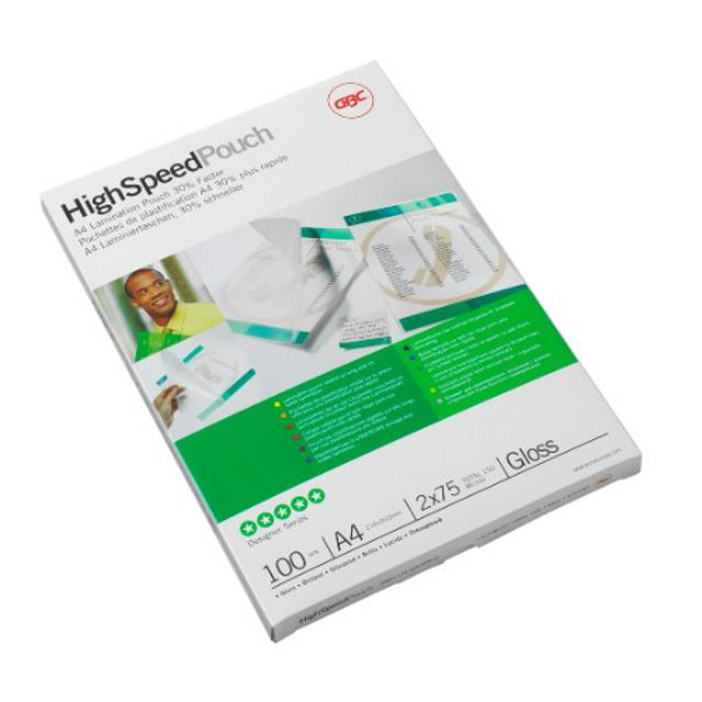GBC Hi-Speed Laminating Pouches 250 Micron A4 Ref 3747348 [Pack 100]