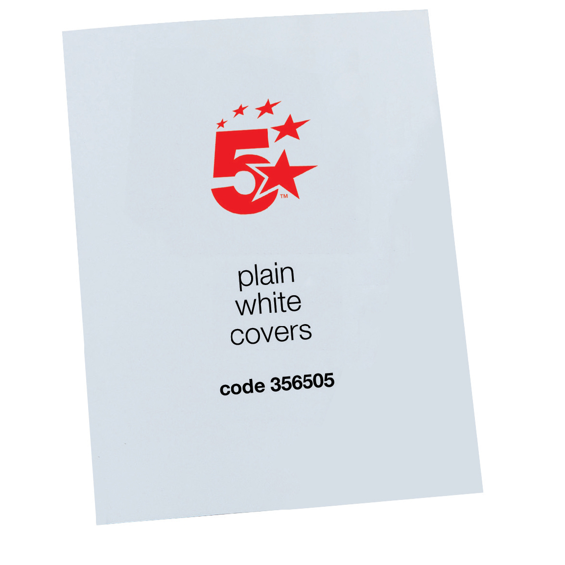 Cover Boards 5 Star Office Binding Covers 250gsm Plain A4 Gloss White [Pack 100]