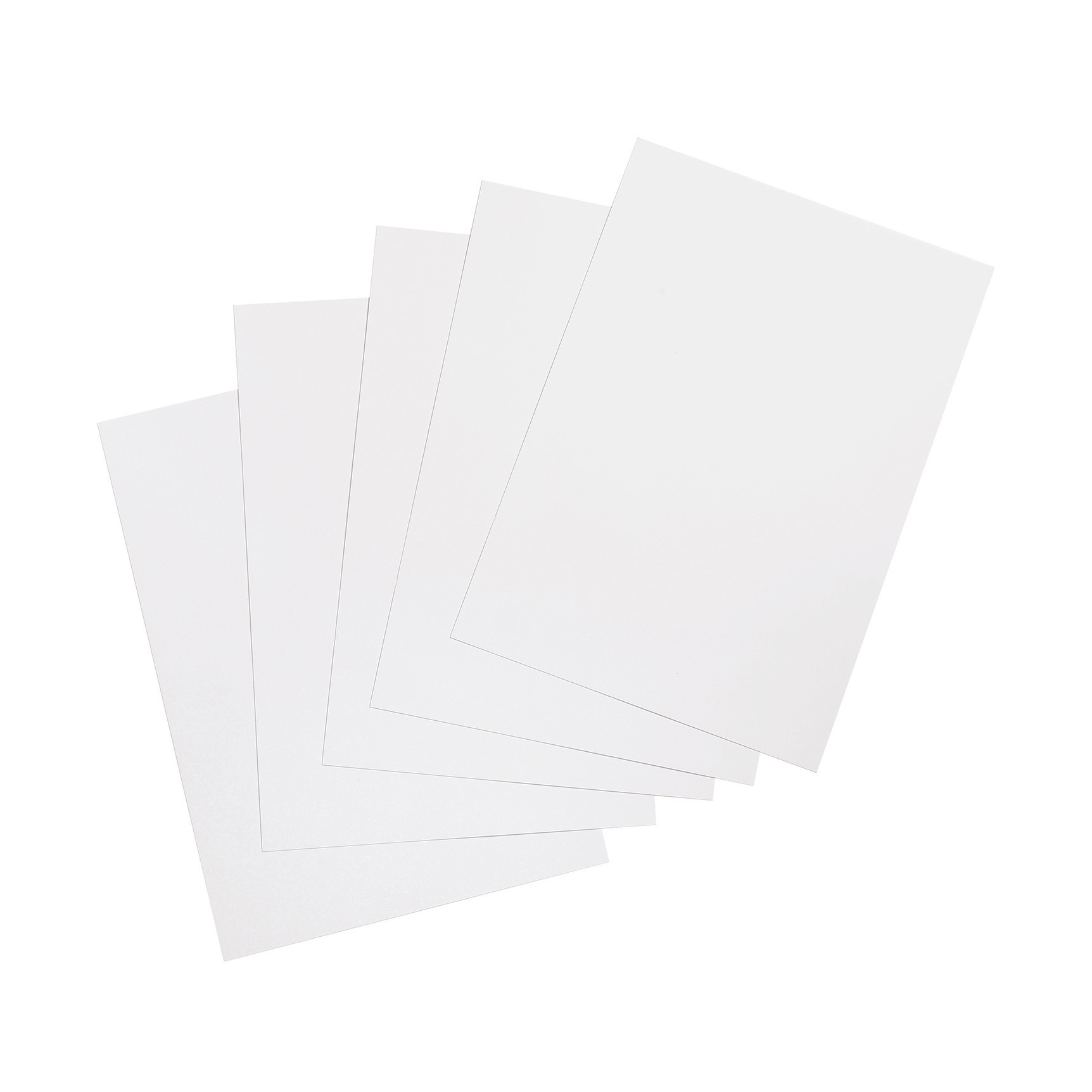 5 Star Office Binding Covers 250gsm Plain A4 Gloss White Pack 100