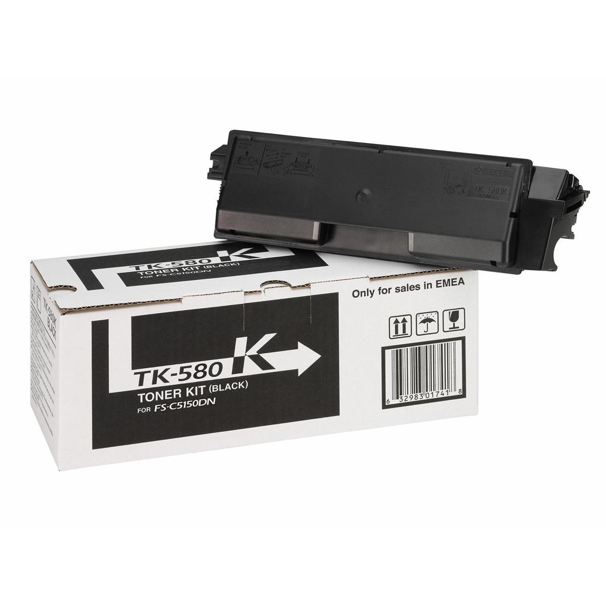 Kyocera TK-580K Laser Toner Cartridge Page Life 3500pp Black Ref 1T02KT0NL0