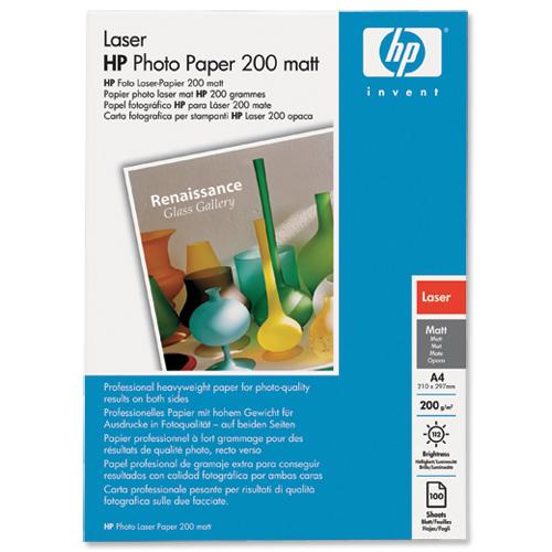 Hewlett Packard HP Laser Photo Paper Matt 200gsm A4 Ref Q6550A 100 Sheets