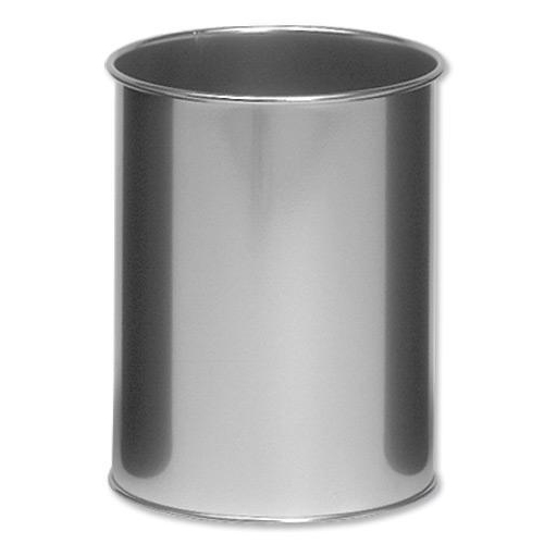 Rubbish Bins Durable Bin Round Metal 15 Litre Capacity 260x315mm Silver Ref 3301/23