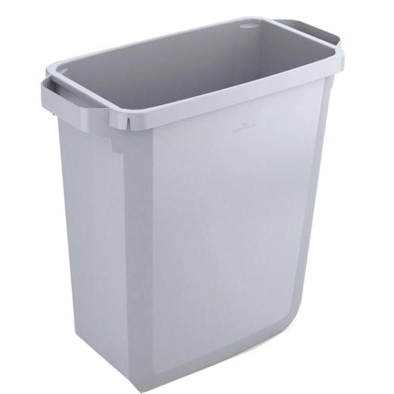 Rubbish Bins Durable Durabin Slim Bin 60 Litres Grey Ref S10496050