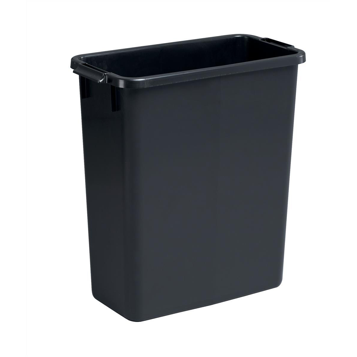 Rubbish Bins Durable Durabin Slim Bin 60 Litres Black Ref S10496221