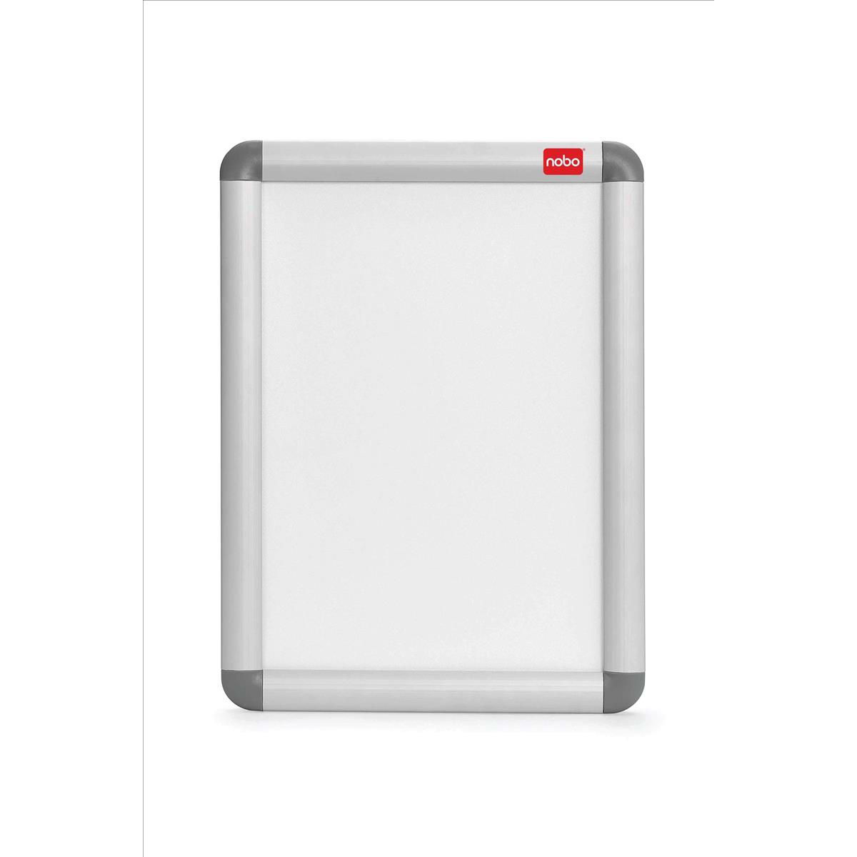 Nobo Snap Frame Moulded Aluminium with PVC Front-loading Inc Fixings A4 297x210mm Ref 1902214