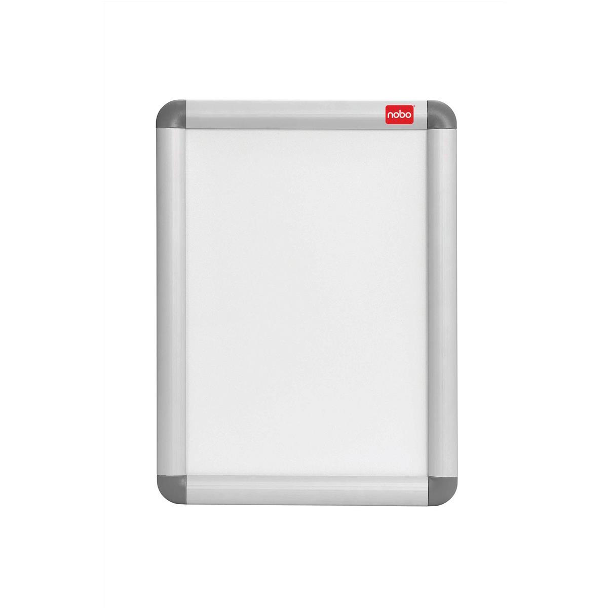 Nobo Snap Frame Moulded Aluminium with PVC Front-loading Inc Fixings A3 420x297mm Ref 1902213