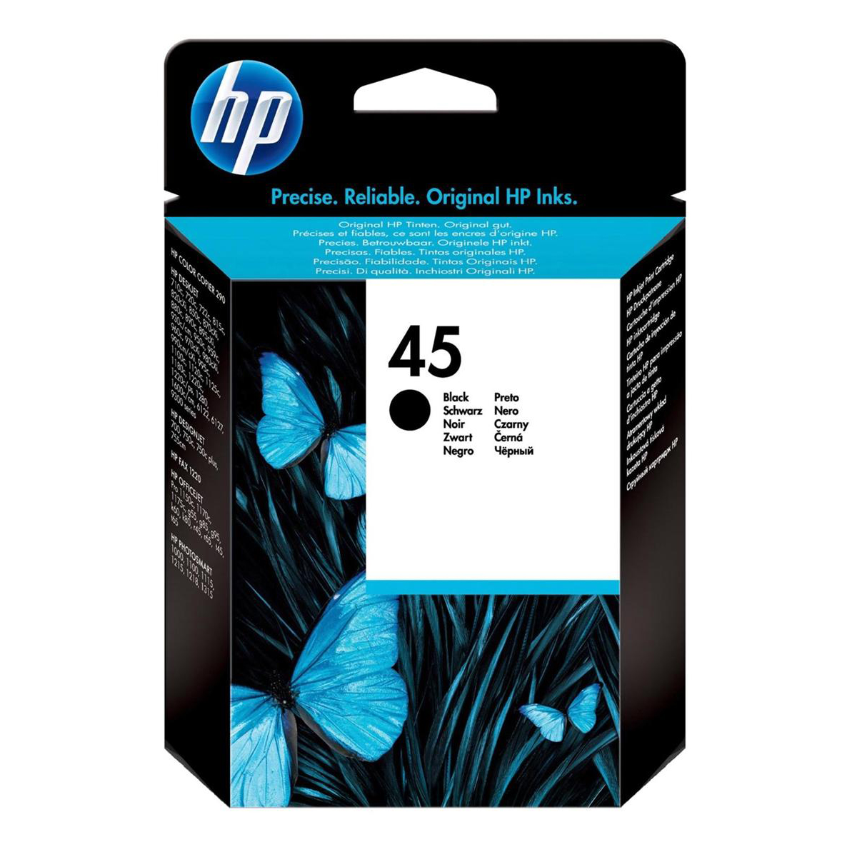 Hewlett Packard [HP] No.45 Inkjet Cartridge High Yield Page Life 930pp 42ml Black Ref 51645AE