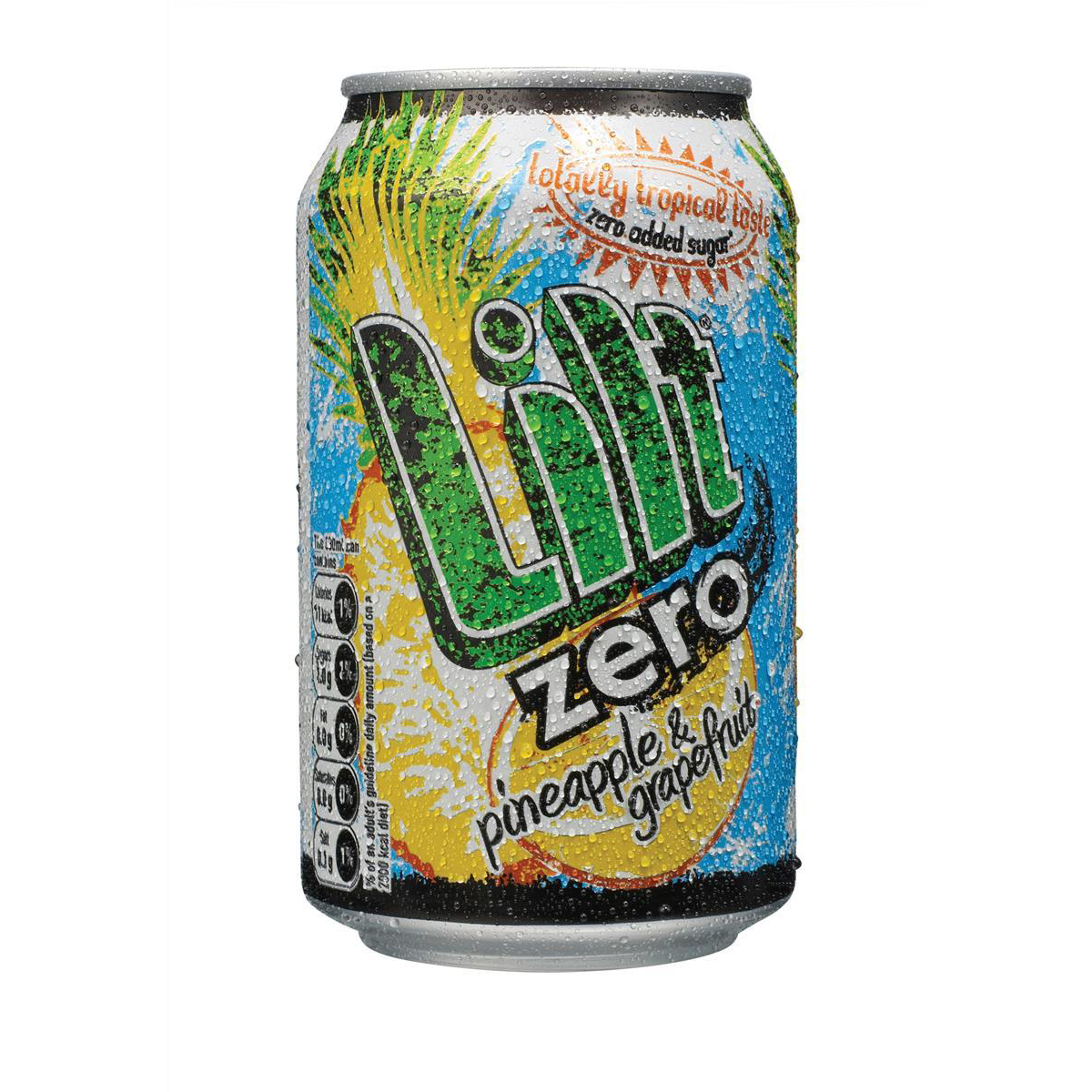 Lilt Zero Added Sugar Soft Drink Can 330ml Ref 0402065 [Pack 24]