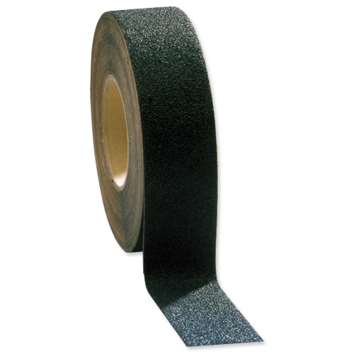 Rubber or vinyl mats COBA Grip-Foot Tape Anti-slip Grit Surface Hard-wearing W152mmxL18.3m Black Mat Ref GF010004