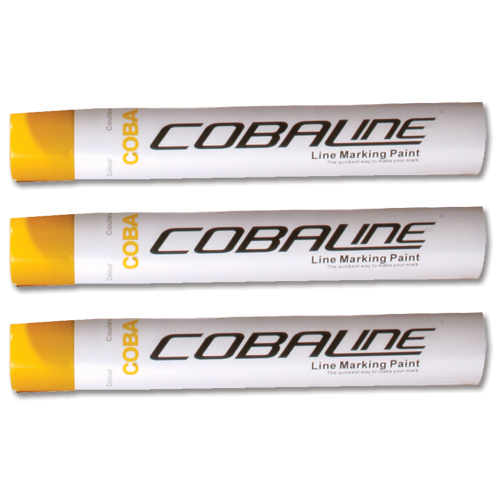 Line Marking Supplies Cobaline Marking Spray CFC-free Fast-dry 750ml Yellow Ref QLL00007P [Pack 6]