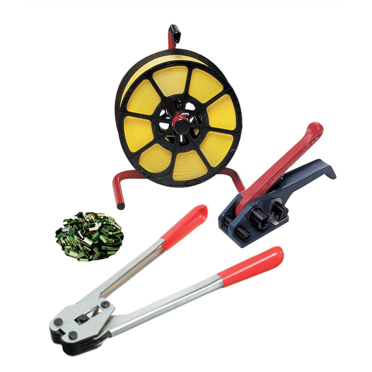 Strapping tensioners or sealers Strapping Kit of 12mm Tensioner 12mm Sealer 12mmx1500m Strapping Coil plus 500 Seals