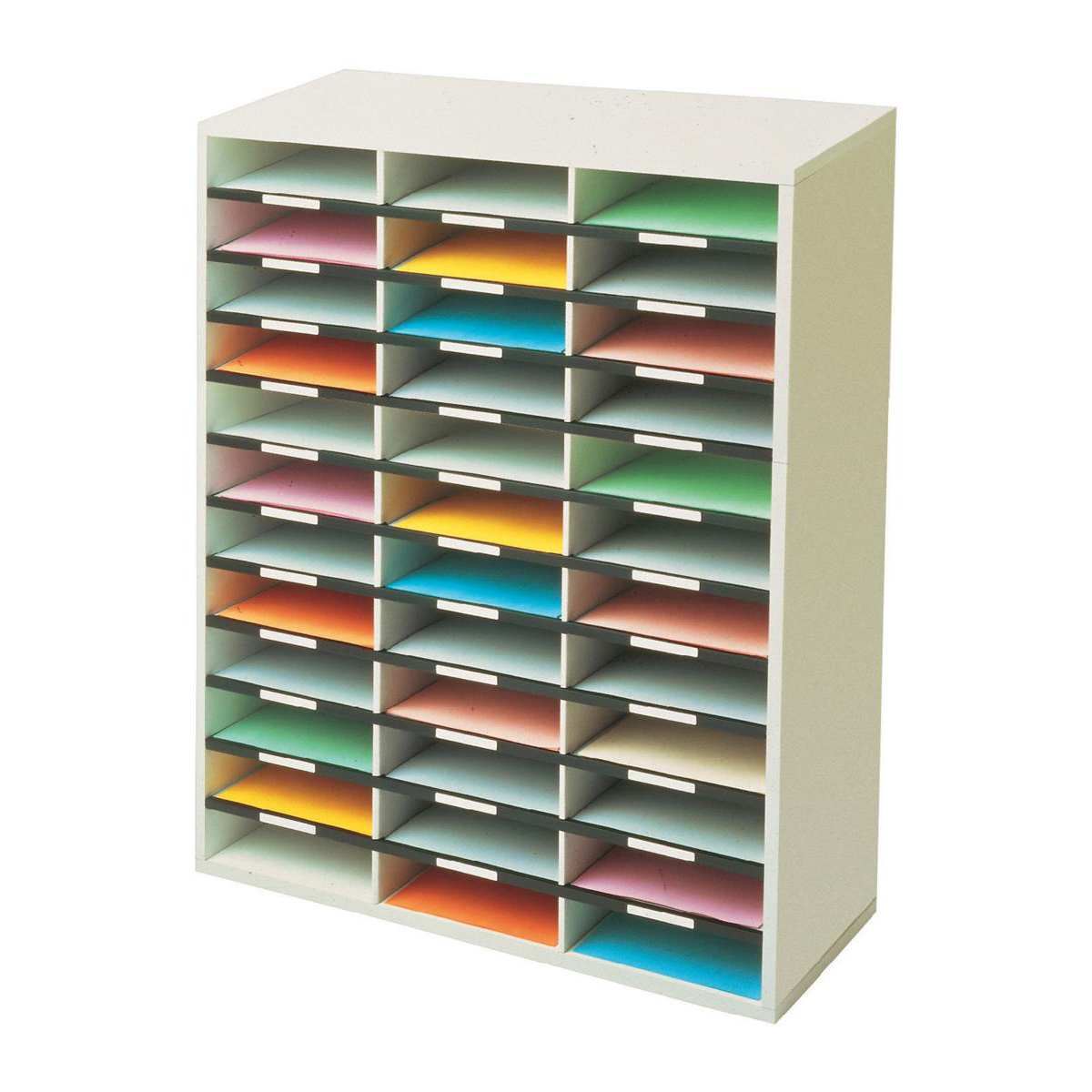 Post Boxes Fellowes Literature Sorter Melamine-laminated Shell 36 Compartments W737xD302xH881mm Ref 25061